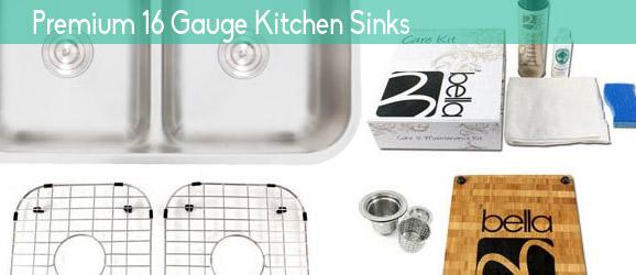 Premium 16 Gauge Stainless Steel Kitchen Sinks
