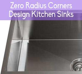 Zero Radius Corners Kitchen Sinks