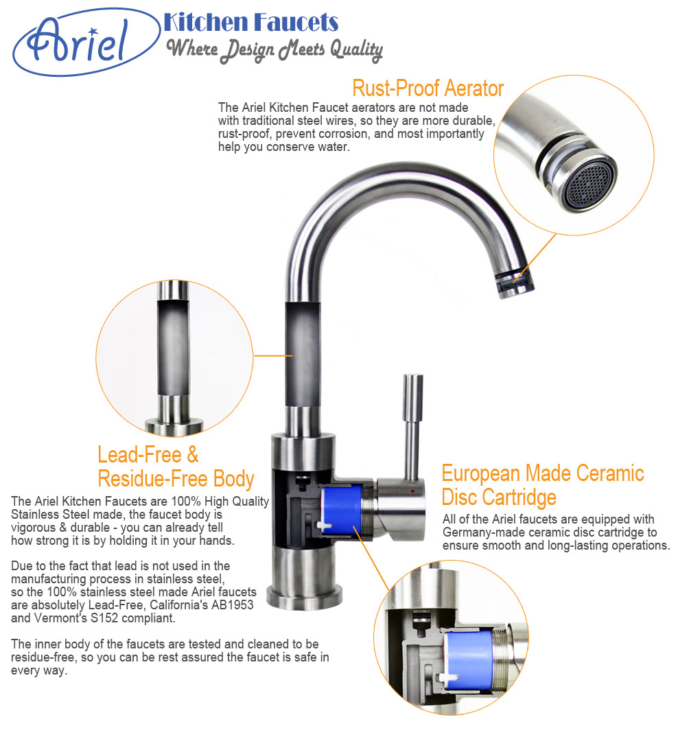 Ariel Kitchen Faucets Features