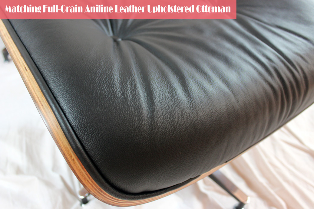 Eames Lounge Chair in Black Full Grain Aniline Leather