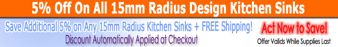 15mm Radius Design Kitchen Sinks Sale
