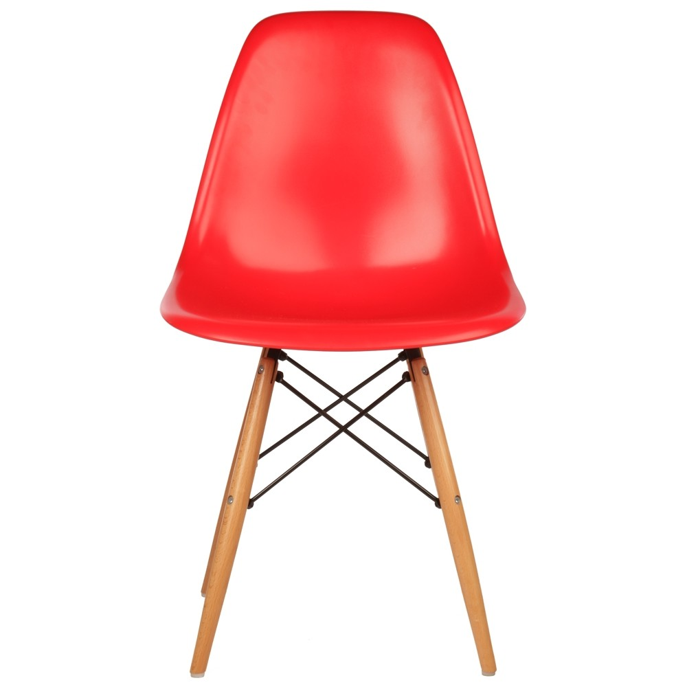 Eames Dsw Dining Chair Red Retro Style Eiffel