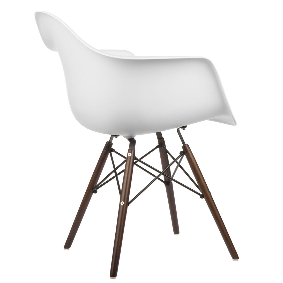 Set Of 2 Eames Style Daw Molded White Plastic Dining