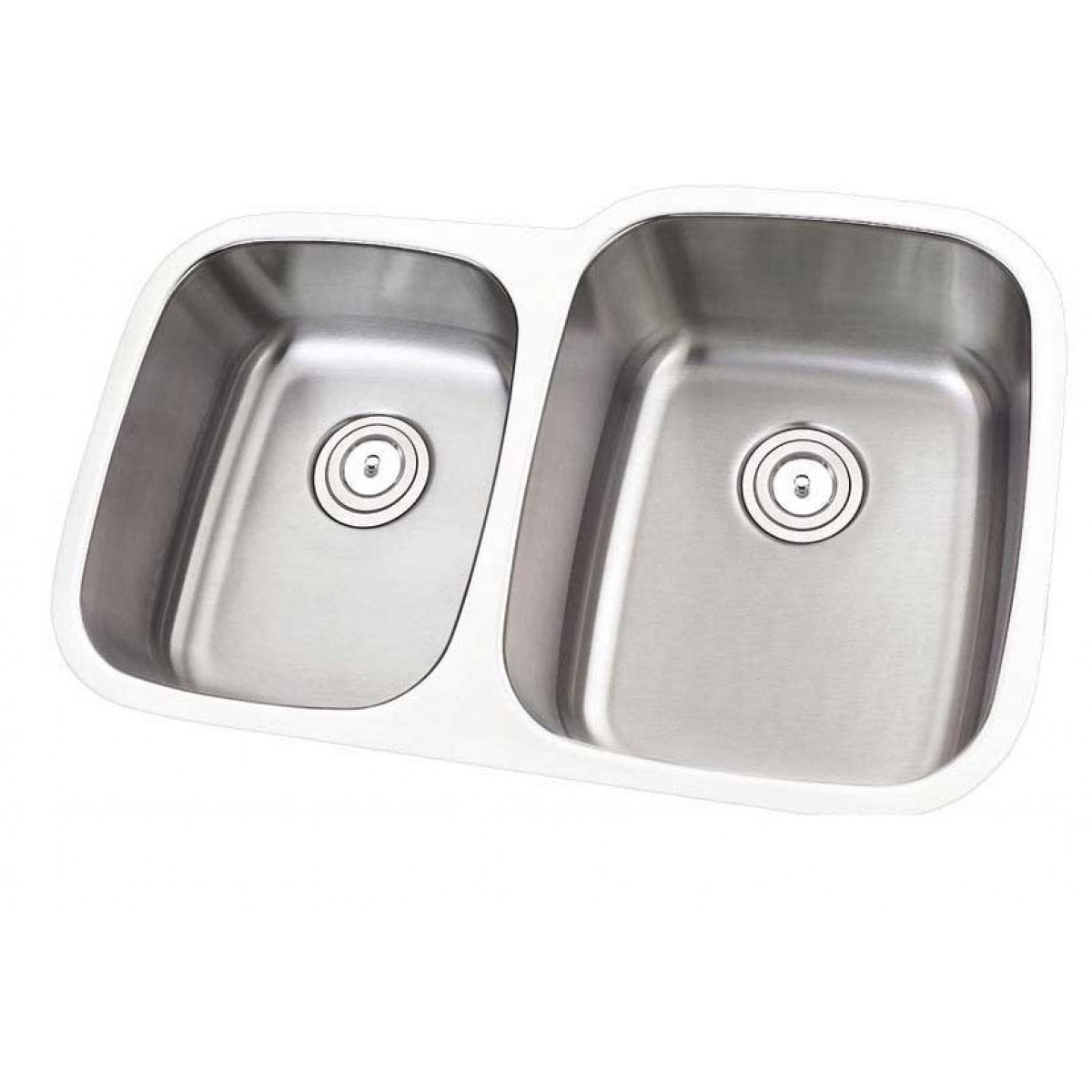 30 Inch Stainless Steel Undermount Double Bowl 40 60