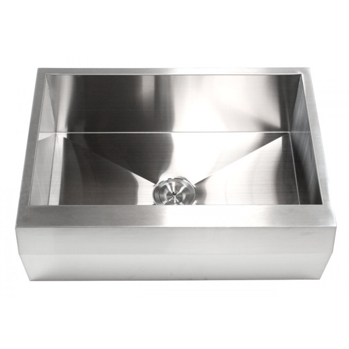angled kitchen sink 30 inch stainless steel single bowl zero radius well 1252