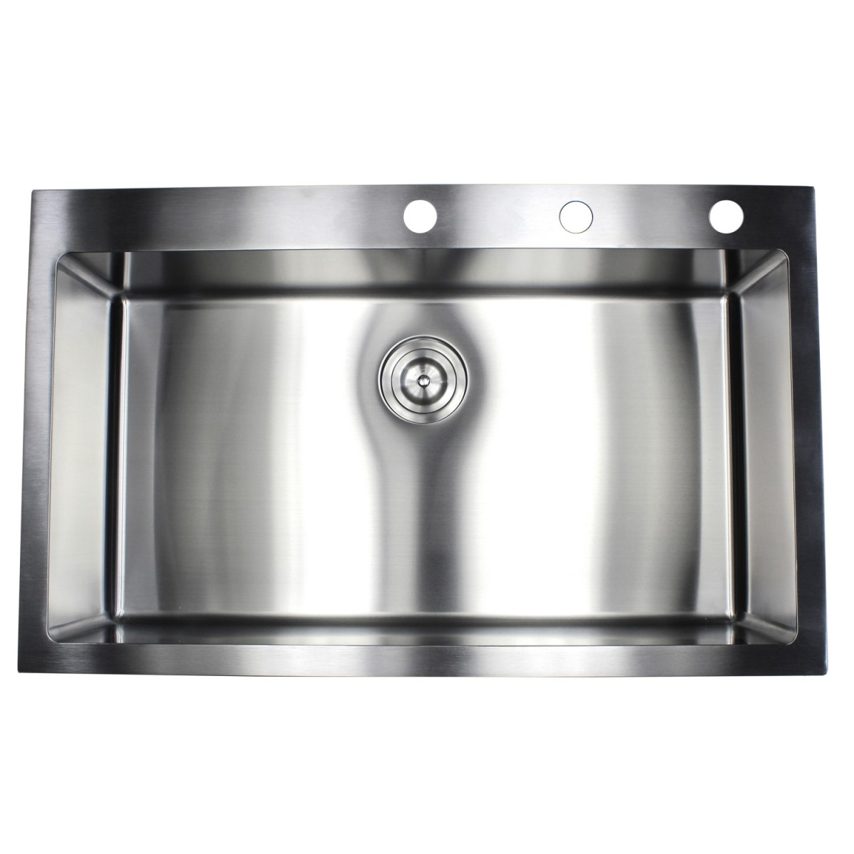 kitchen sink package 36 inch drop in top mount stainless steel single bowl 2809