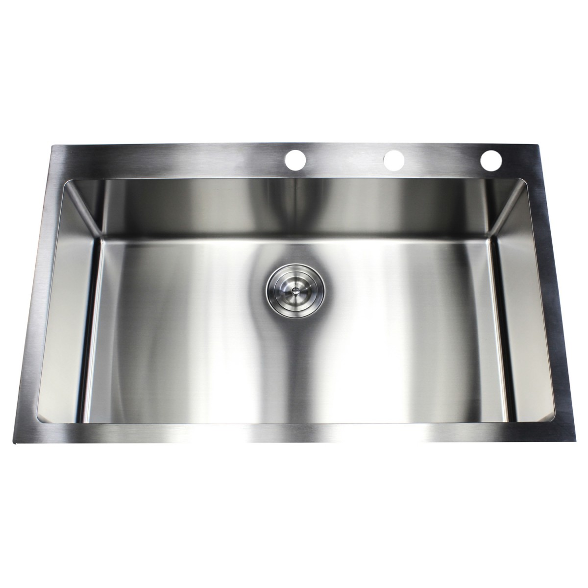 single bowl kitchen sink top mount 36 inch top mount drop in stainless steel single bowl 9305