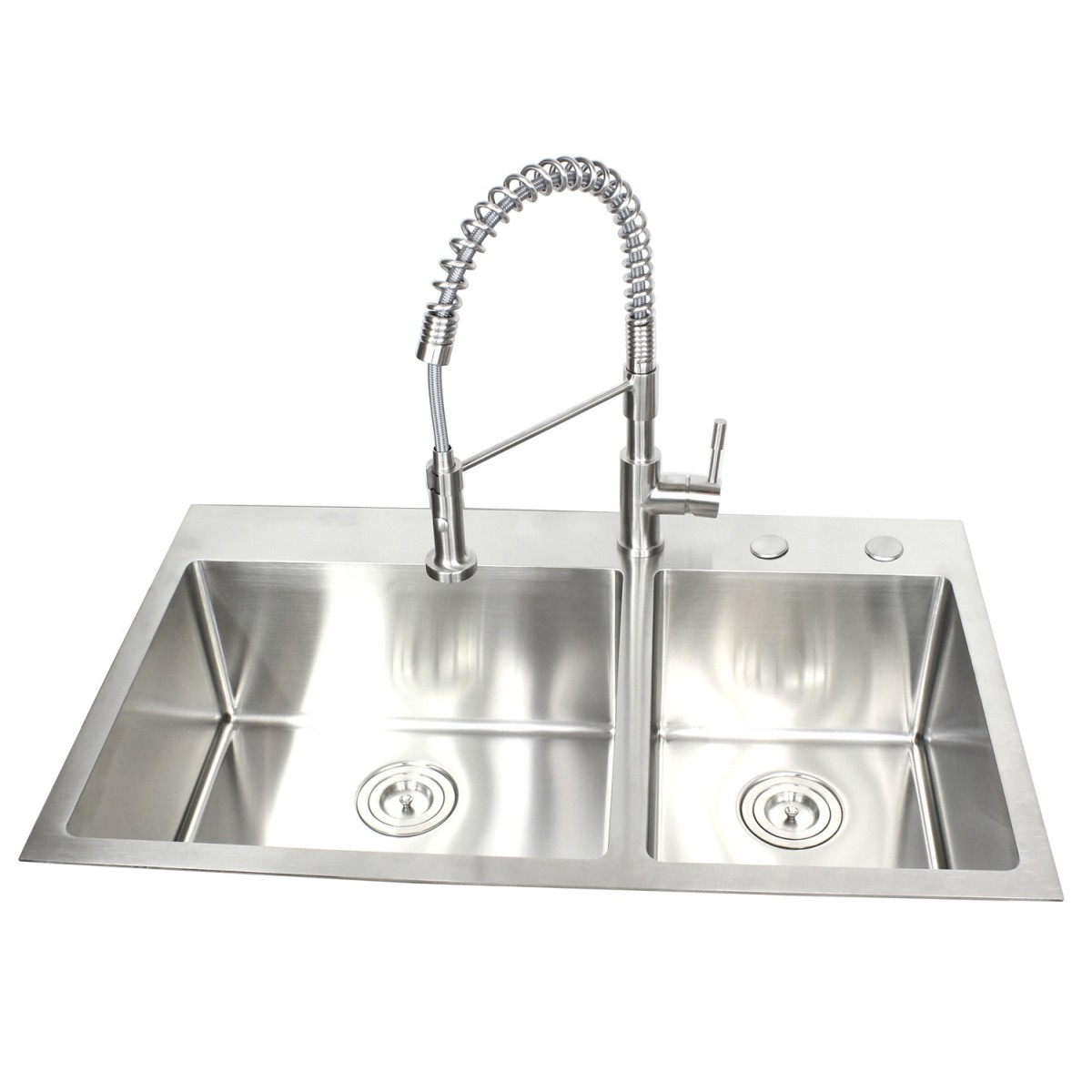 Top Mount Sink Kitchen: 36 Inch Top-Mount / Drop-In Stainless Steel 60/40 Double