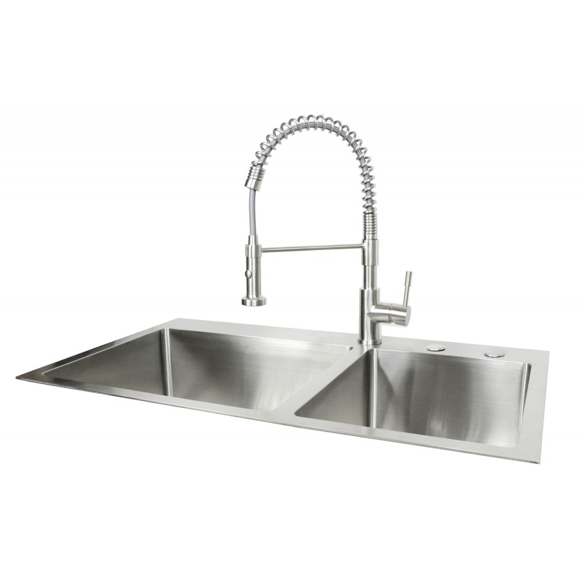 36 Inch Top-Mount / Drop-In Stainless Steel 60/40 Double Bowl ...  Drop In Kitchen Sink on 24 x 16 sink, hammered copper farmhouse sink, 24 bathroom vanity with sink, cast iron undermount double sink, 70 30 undermount stainless steel sink, copper bowl sink,