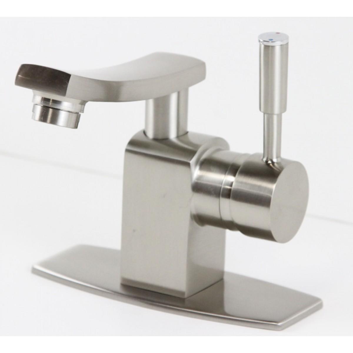 Brushed Nickle Bathroom Vessel Sink Faucet Hole Cover Deck