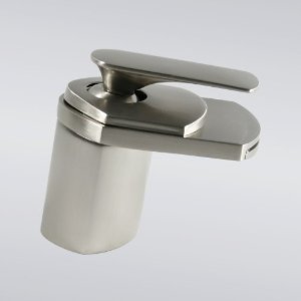 Brushed Nickel Contemporary Waterfall Flat Spout Single Hole