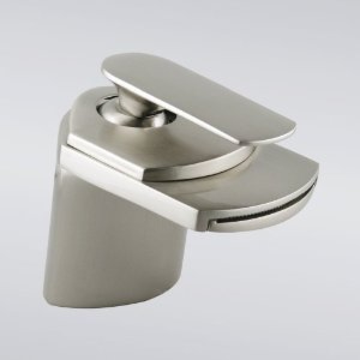 Brushed Nickel Contemporary Waterfall Flat Spout Single Hole ...
