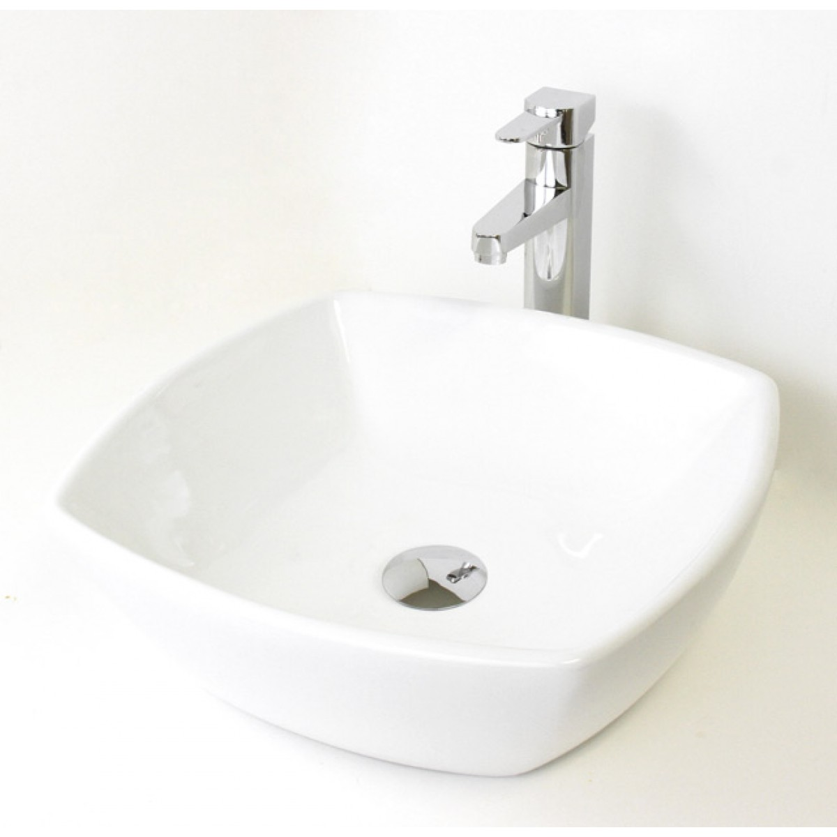 White Black Porcelain Ceramic Countertop Bathroom Vessel Sink 16 1 2 X 5 3 8 Inch