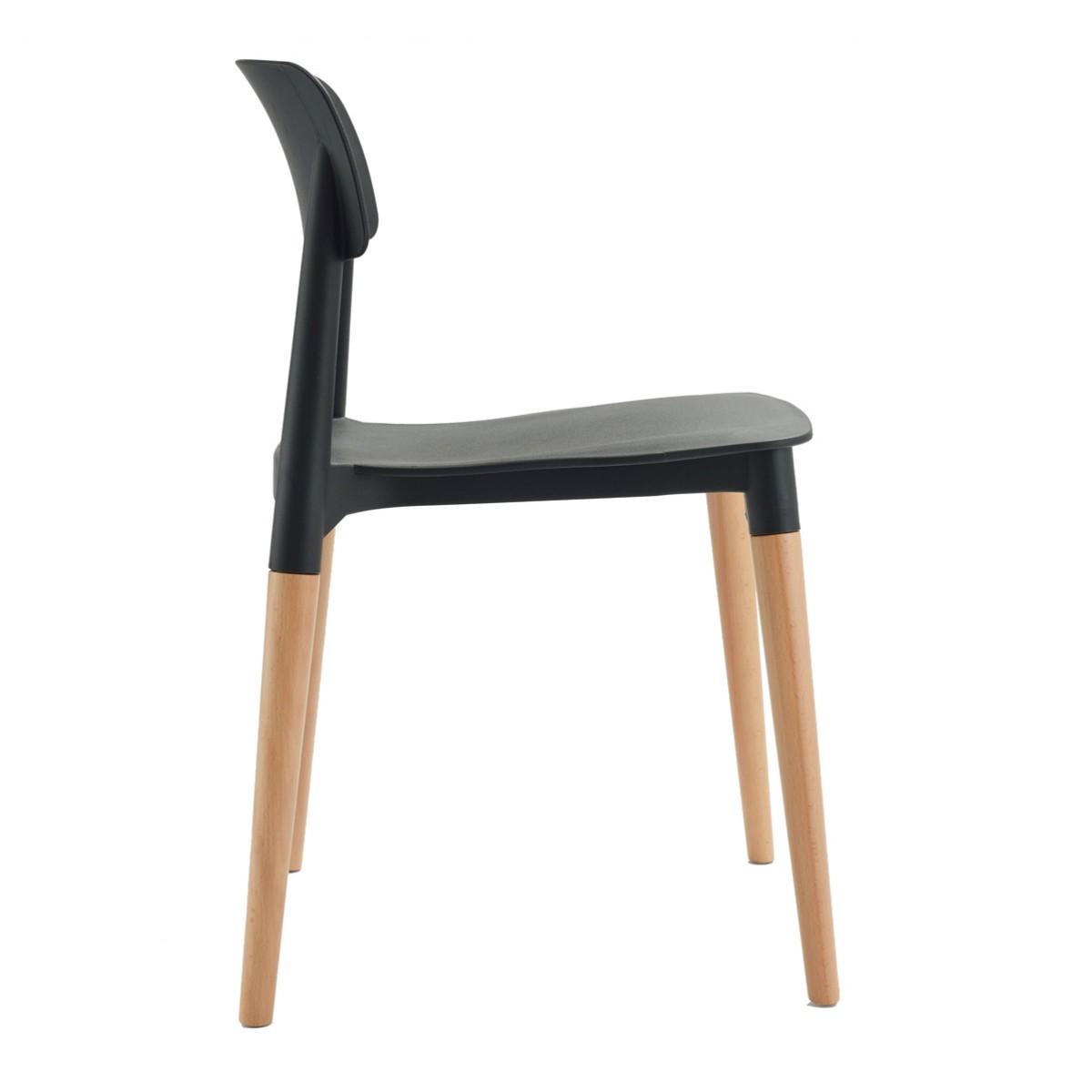 Bel Black Dining Bistro Cafe Modern Minimalist Side Chair