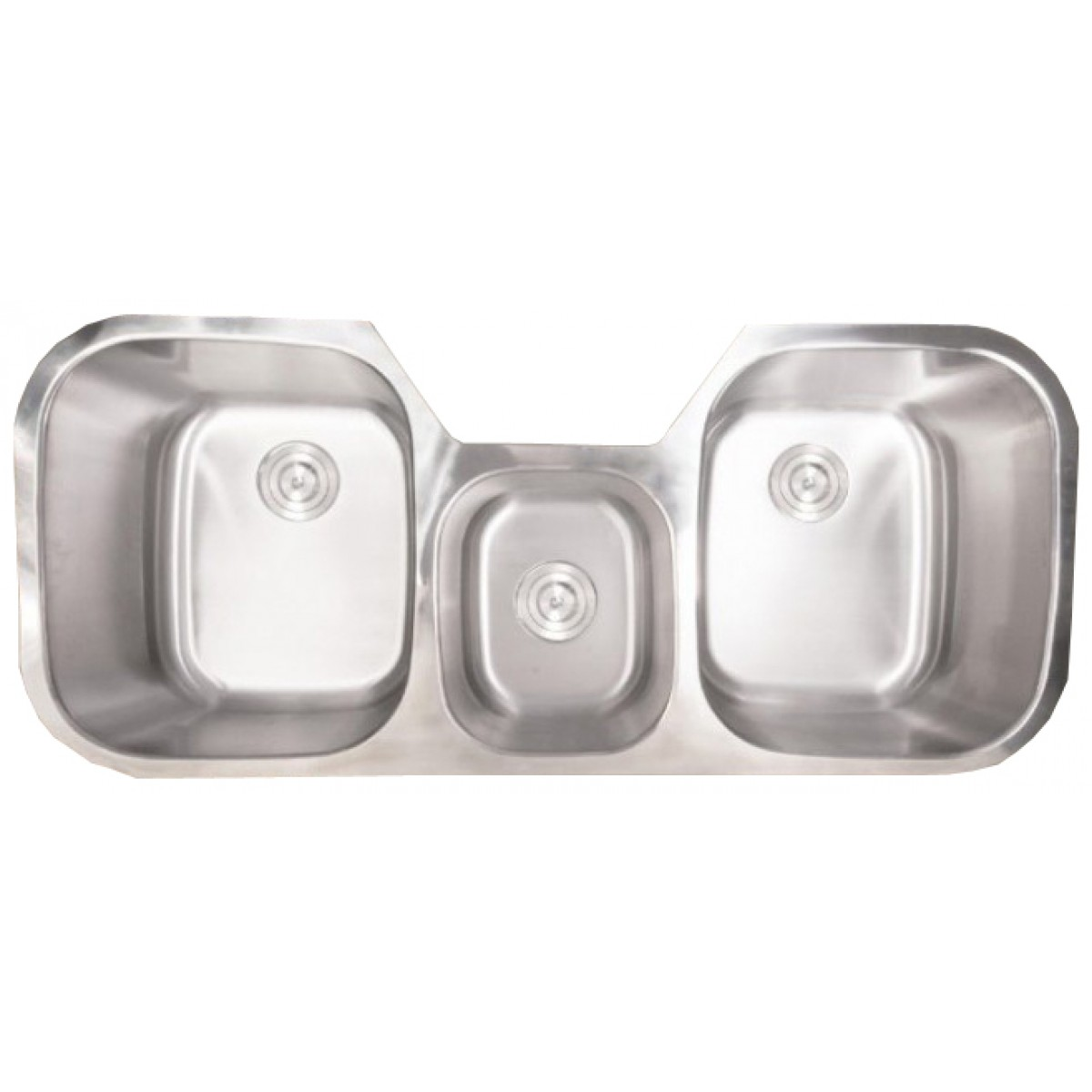 Bella 46 Inch Stainless Steel Undermount Triple Bowl
