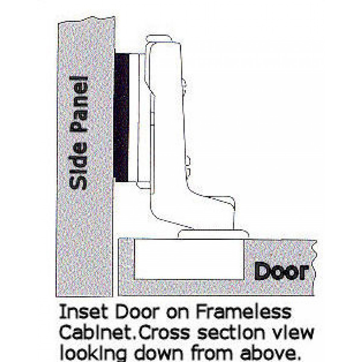 European Cabinet Concealed Hydraulic Soft Close Inset Hinge For