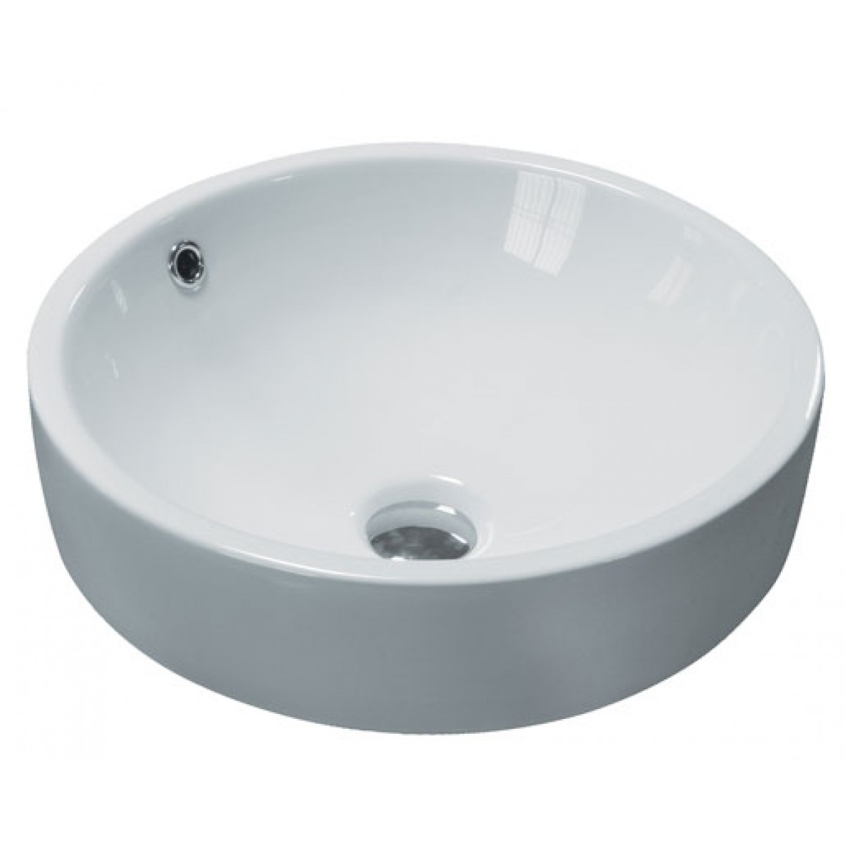 Round Porcelain Ceramic Countertop Bathroom Vessel Sink