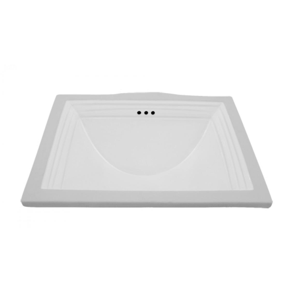 Rectangular White Porcelain Ceramic Vanity Undermount Bathroom ...