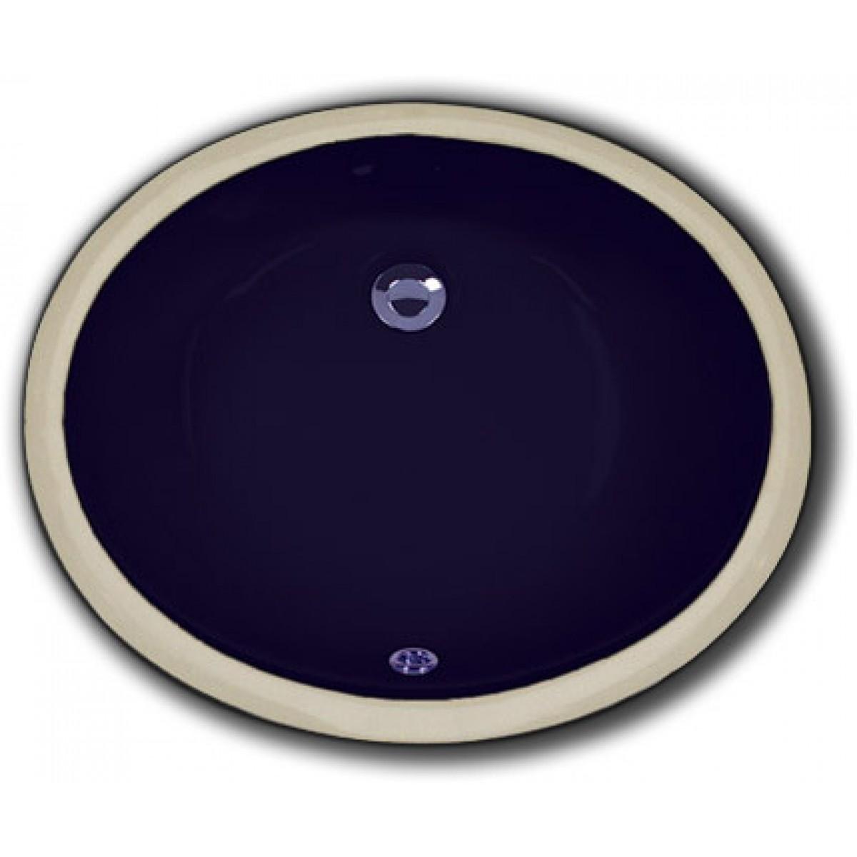 Black Porcelain Ceramic Vanity Undermount Bathroom Vessel Sink   17 X 14 X  6 Inch