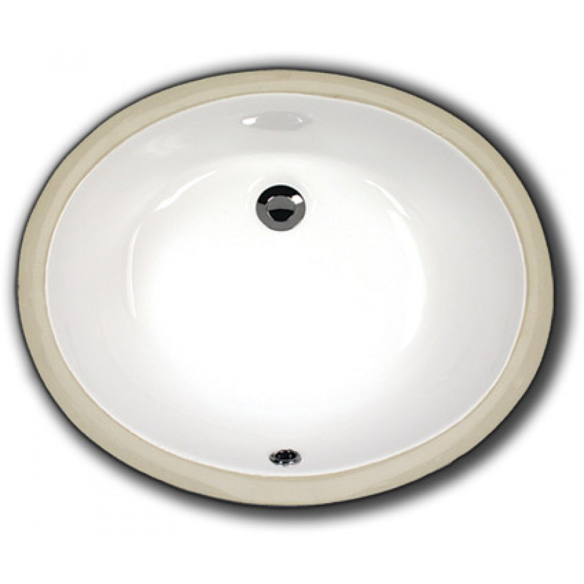 Biscuit Porcelain Ceramic Vanity Undermount Bathroom Vessel Sink   19 1/2 X  15 3/4 X 6 Inch