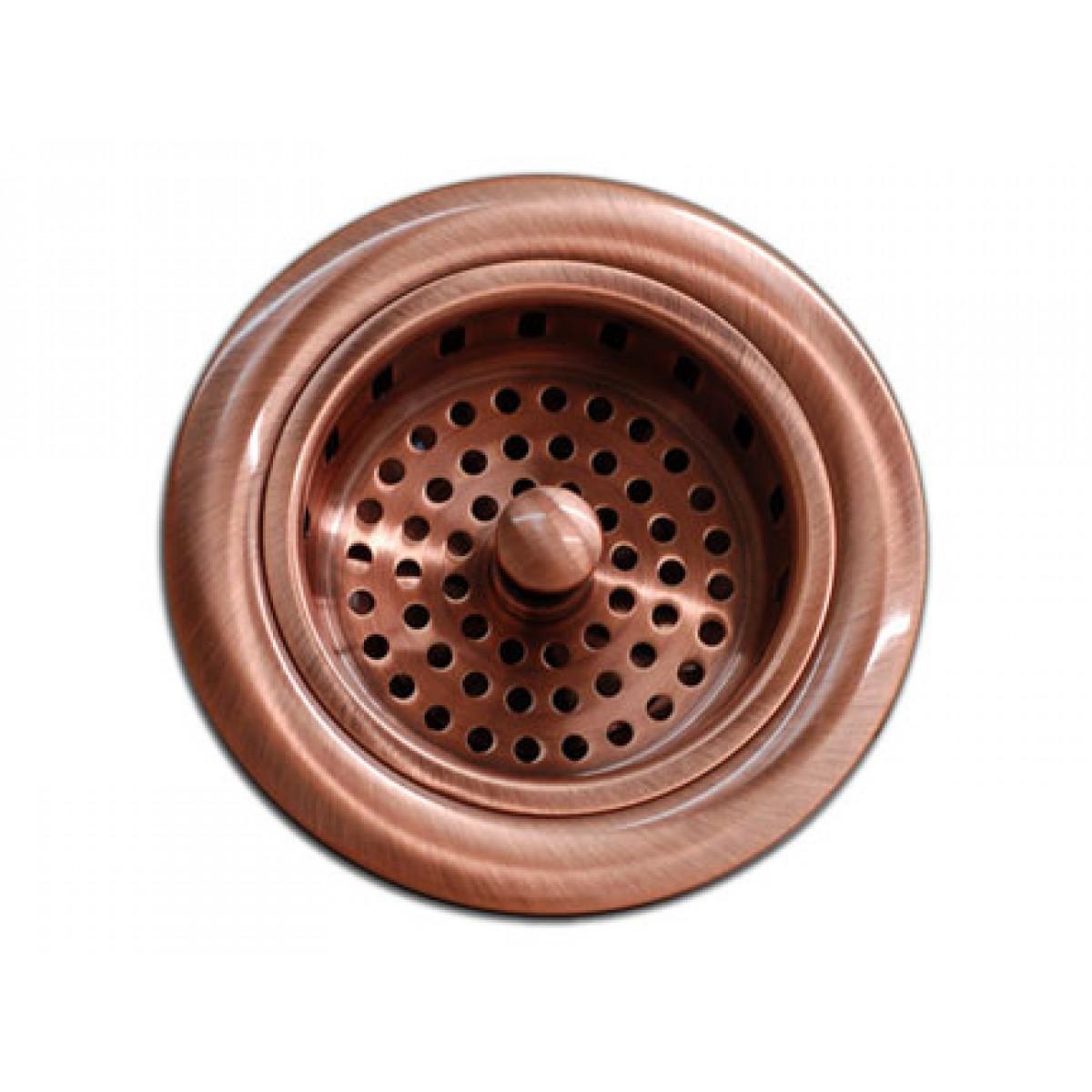 Kitchen / Bar Copper Sink Basket Strainer 3.5-inch