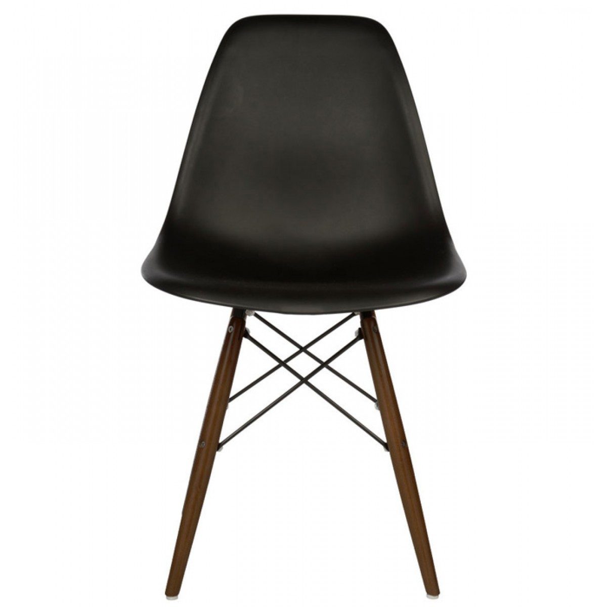 Eames Style Dsw Molded Black Plastic Dining Shell Chair