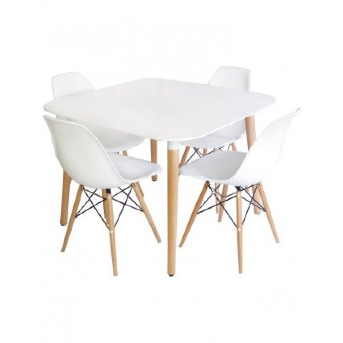 White Square Dining Table: Eames Style DSW White Square Dining Table