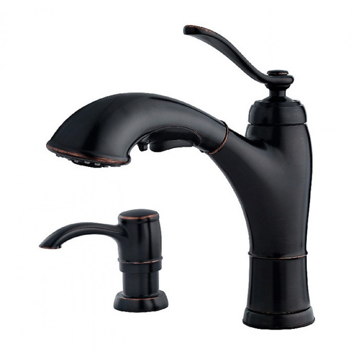 Pfister Glenfield Lead Free Single Handle Pull Out Kitchen Faucet ...