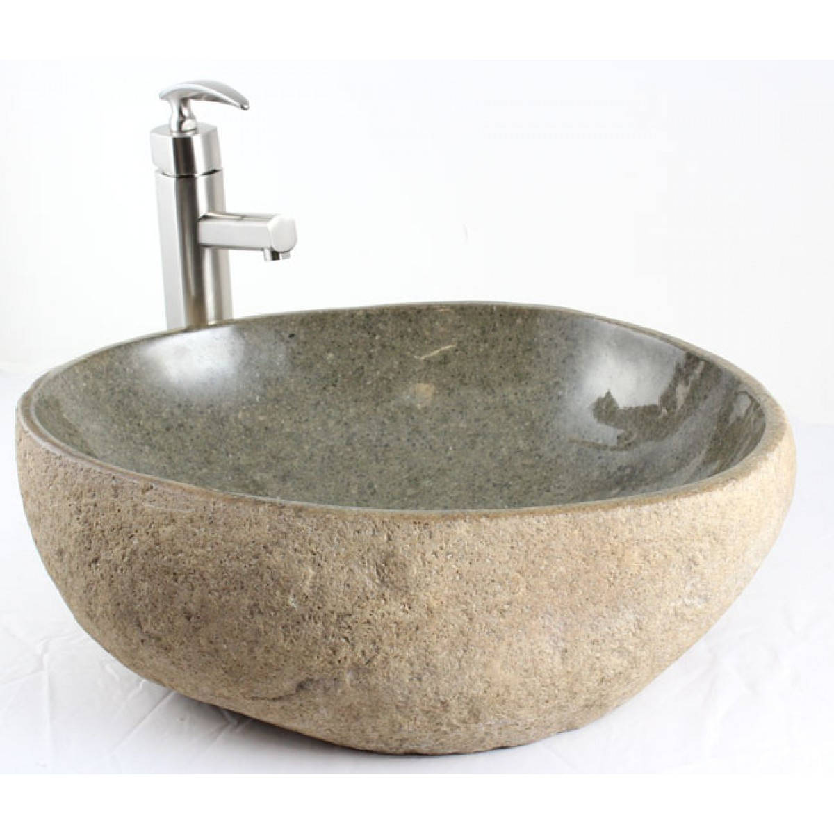 Natural River Rock Stone Bathroom Lavatory Vessel Sink
