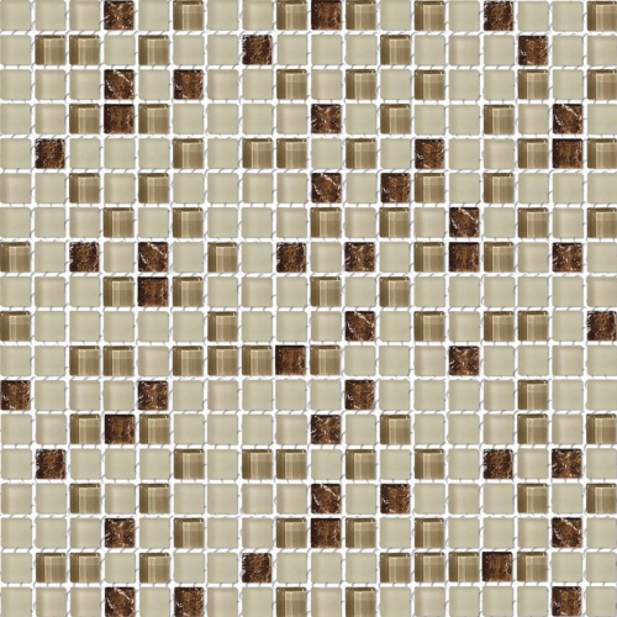 Kitchen Tiles Design Texture: Brown Cocoa Frosted Blend Glass Mosaic Textured Tile Mesh