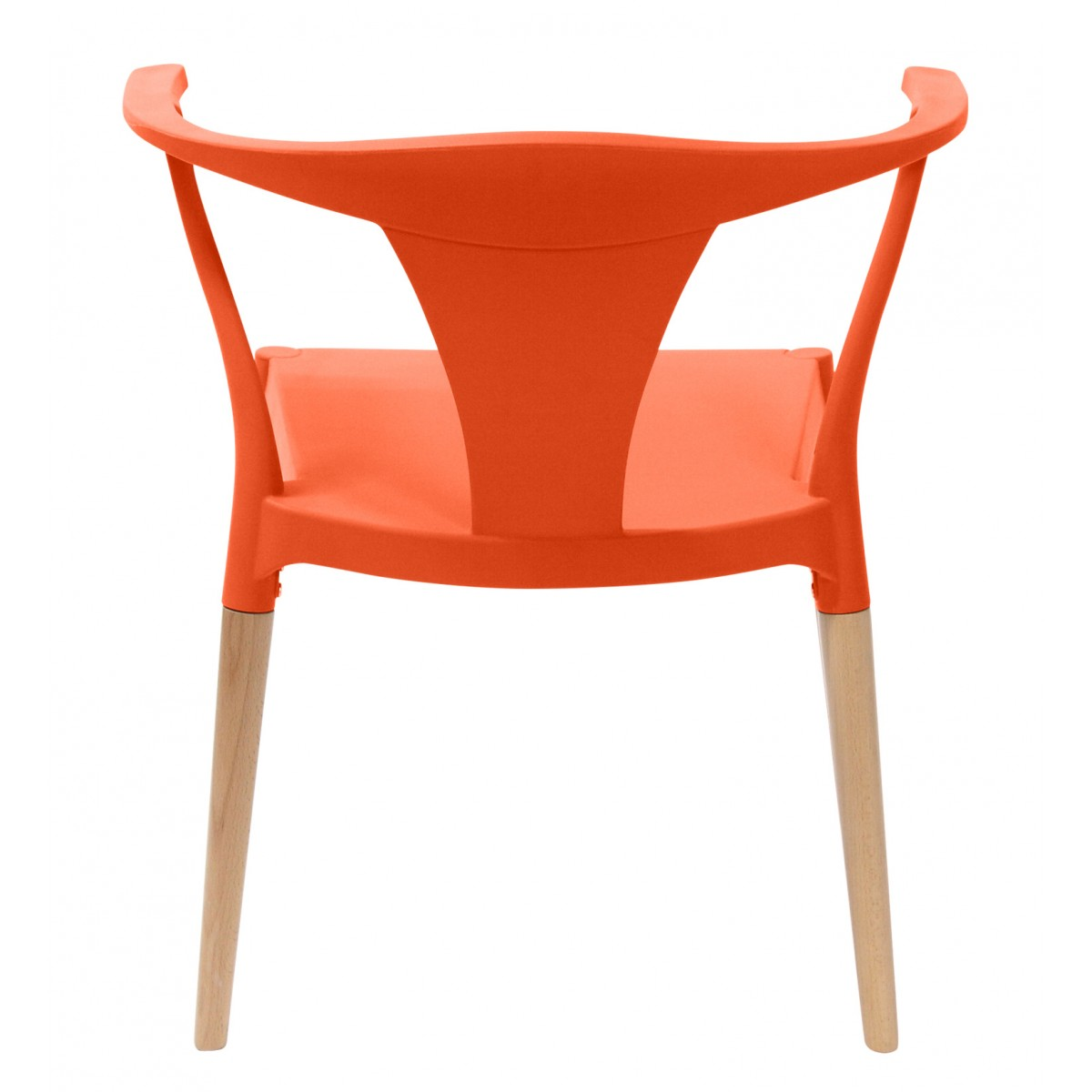 Icon Series Orange Modern Accent Dining Arm Chair Beech