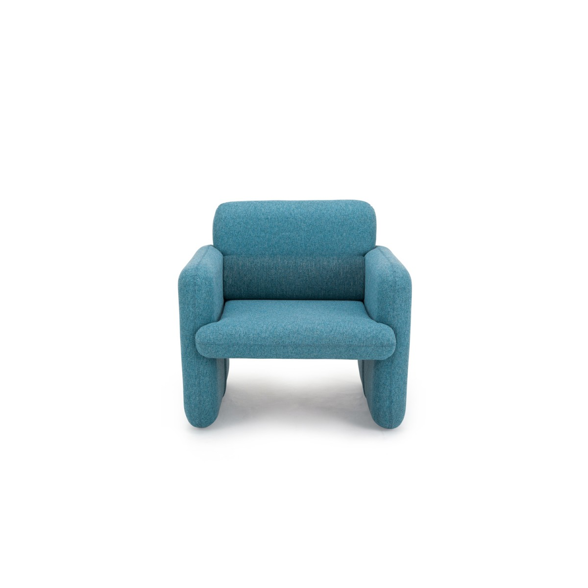Ross Series Blue Woven Fabric Upholstered Modern Accent
