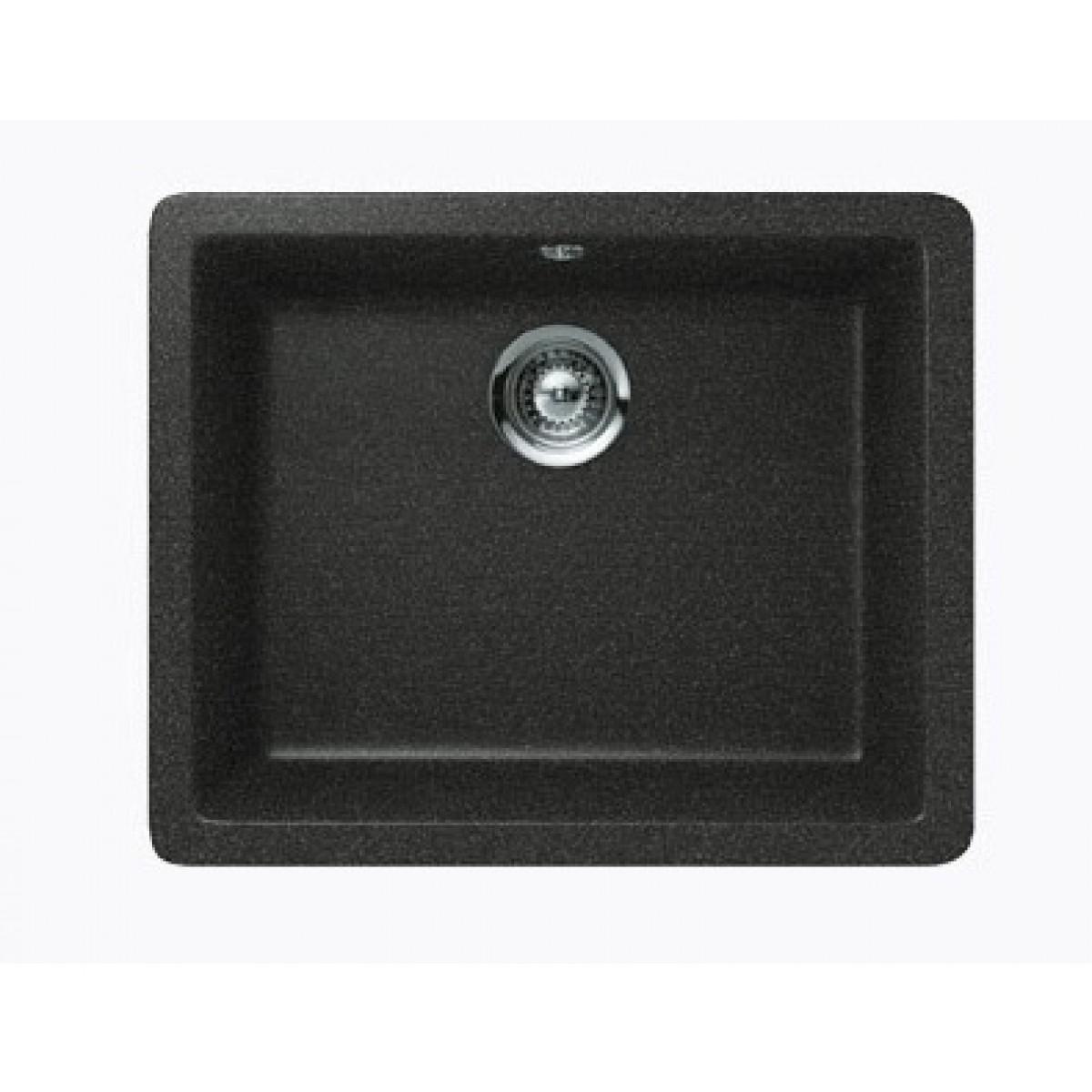 Black Quartz Composite Single Bowl Undermount / Drop In Kitchen Sink ...