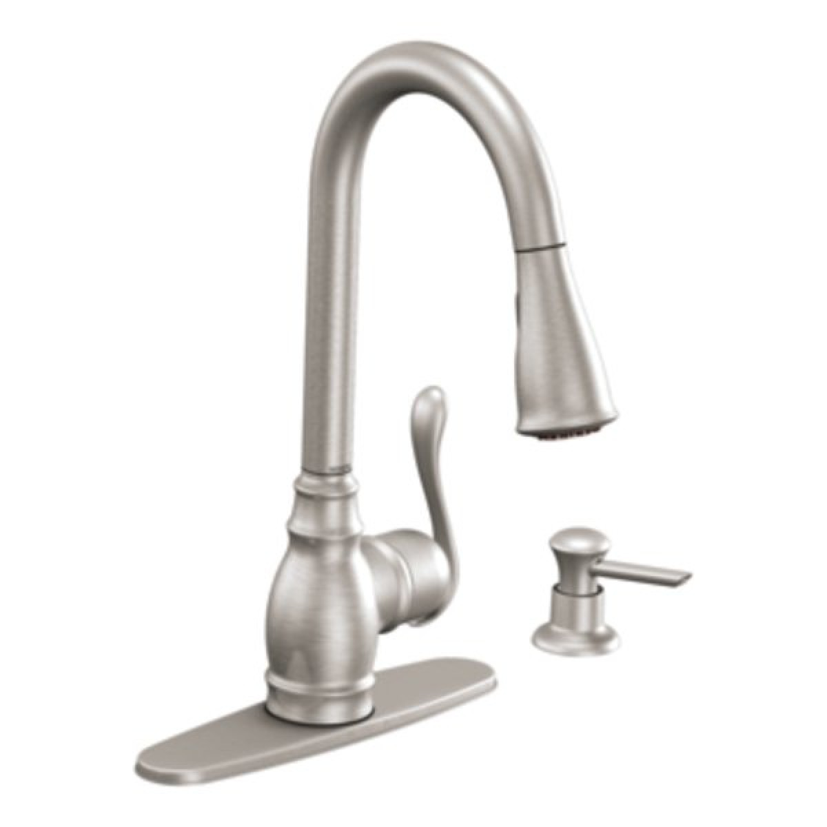 Moen Anabelle Lead Free Single Handle Pull Out Kitchen Faucet With ...