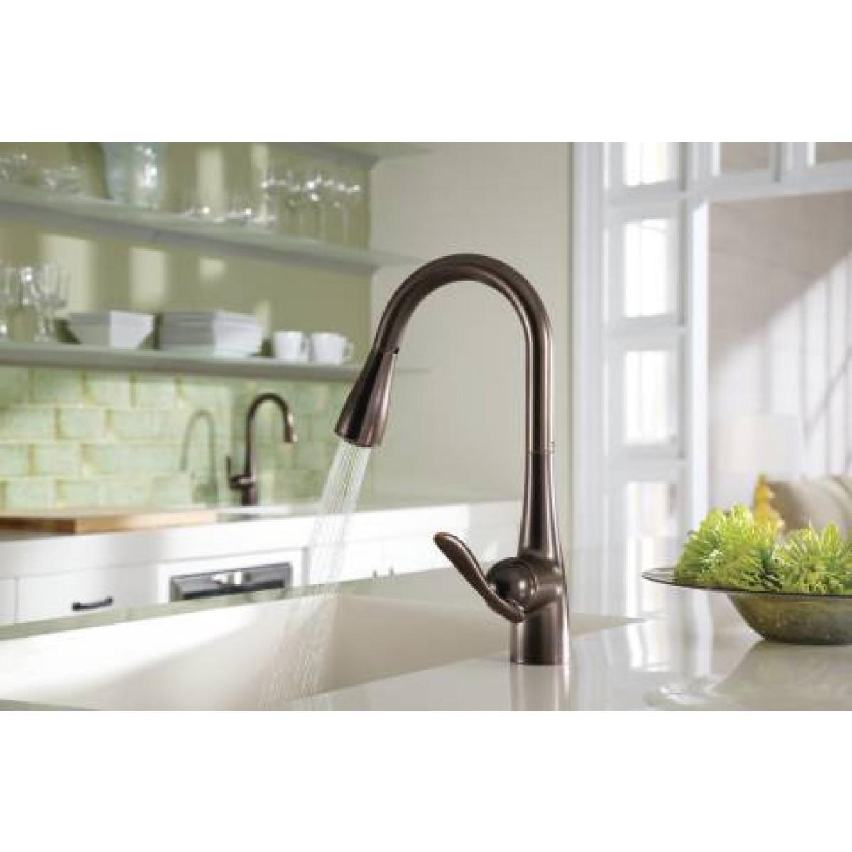 Moen Arbor Lead Free Single Handle Pull Out Kitchen Faucet on discontinued moen faucets, moen 4600 faucet, moen caldwell collection, moen single handle faucet repair, moen laundry faucet, moen replacement parts, moen bathtub fixtures, moen t6125, moen shower fixtures, moen bar sink, moen voss, moen handicap faucets, moen two handle lavatory faucet, moen kingsley faucet, moen faucet models, moen faucets brand, moen water faucets, moen faucet repair parts 97556, moen shower systems, moen monticello faucet repair,