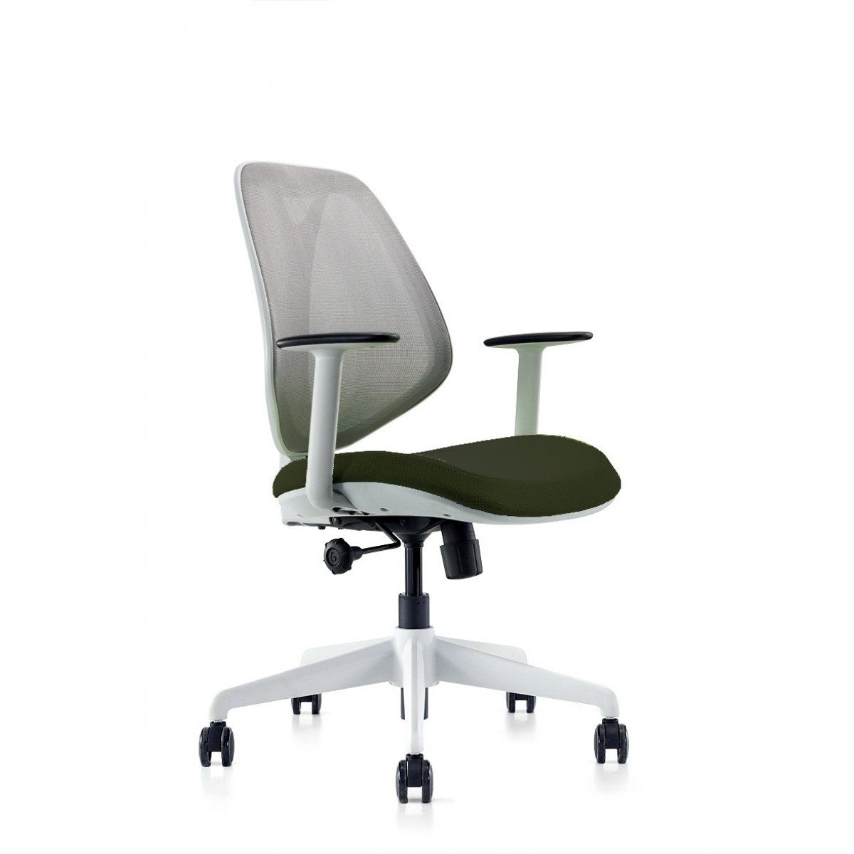 Omin Series Ergonomic Office Chair Gray Mesh Low Back Conference Office Task Chair With Extension Lumbar Support Hydraulic Adjustable Height And