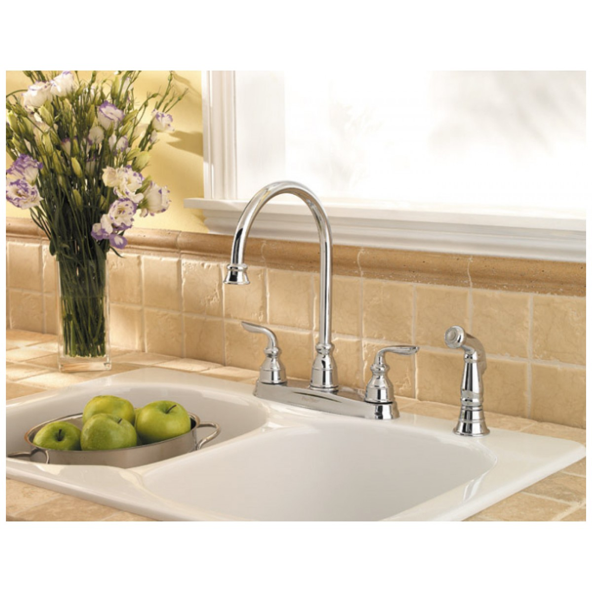 Pfister Avalon Two Handle Widespread Lead Free Kitchen Faucet With ...