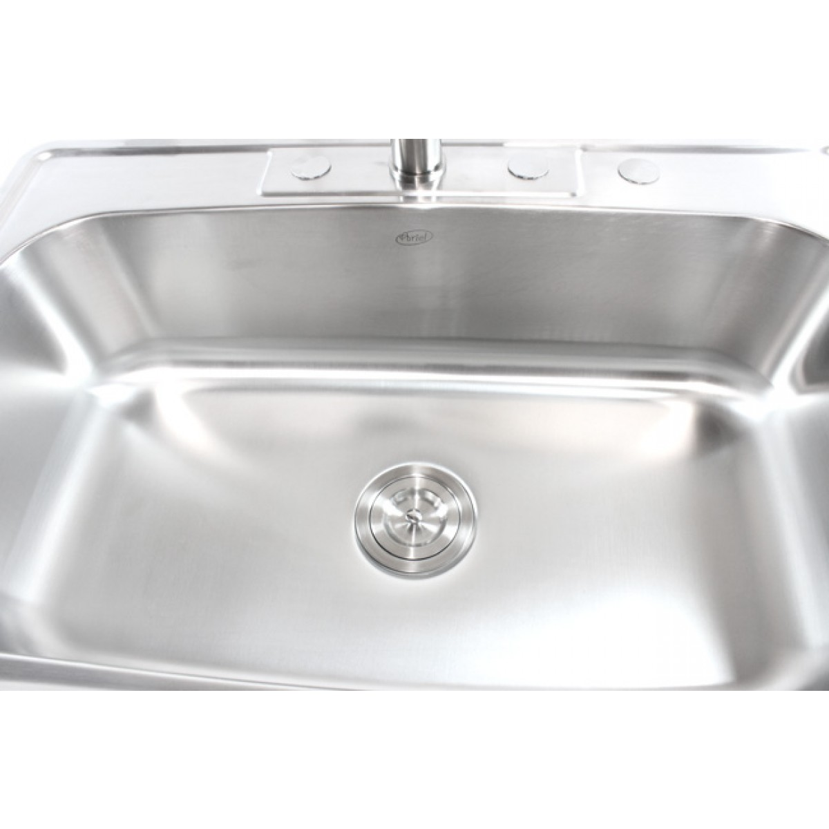 best gauge for kitchen sink 33 inch stainless steel top mount drop in single bowl 7696