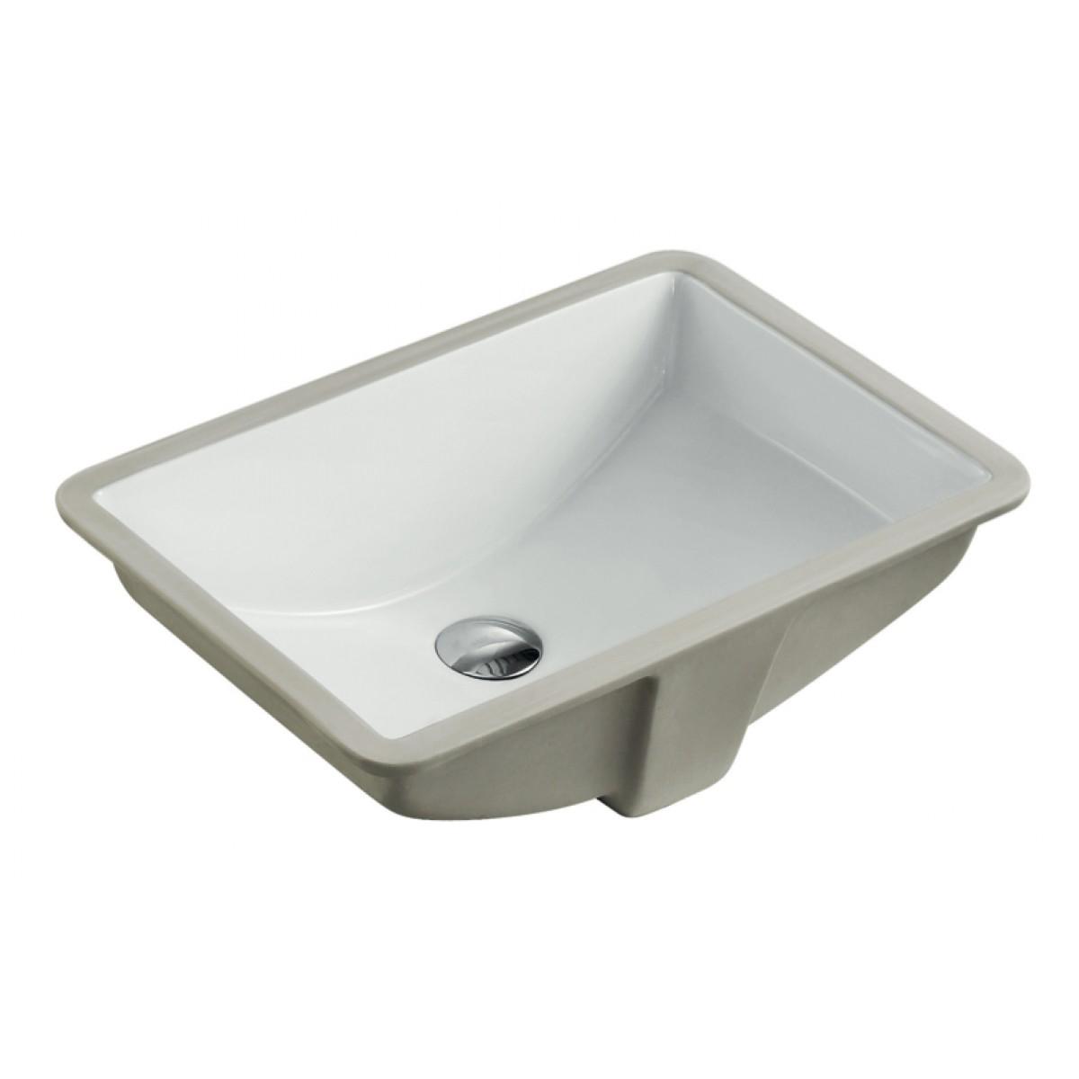 Rectangular white biscuit porcelain ceramic vanity - Undermount bathroom sinks rectangular ...