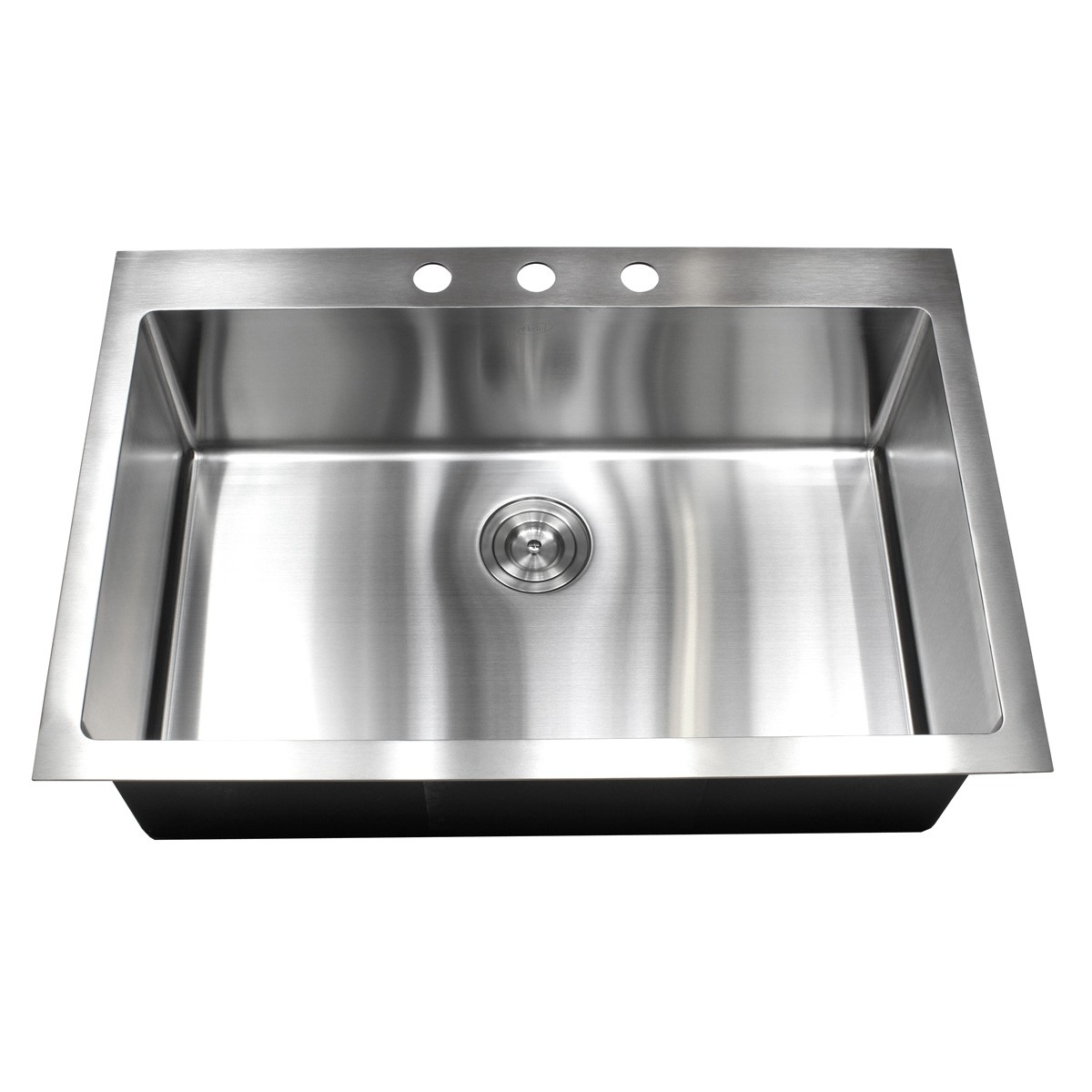 Best Kitchen Sink: 33 Inch Top-Mount / Drop-In Stainless Steel Single Bowl
