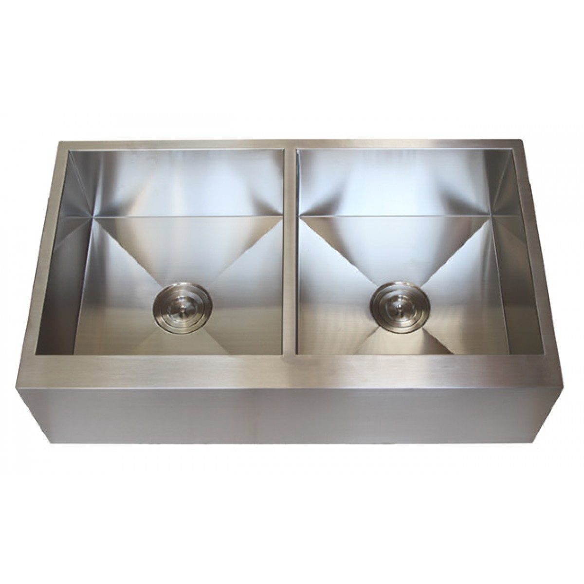 Bon 36 Inch Stainless Steel Flat Front Farmhouse Apron Kitchen Sink 50/50  Double Bowl