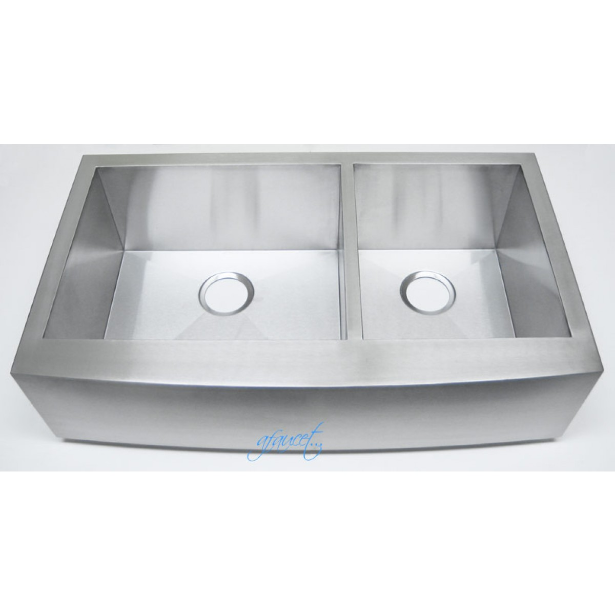 36 Inch Stainless Steel Curved Front Farm A 60 40 Double Bowl Kitchen Sink