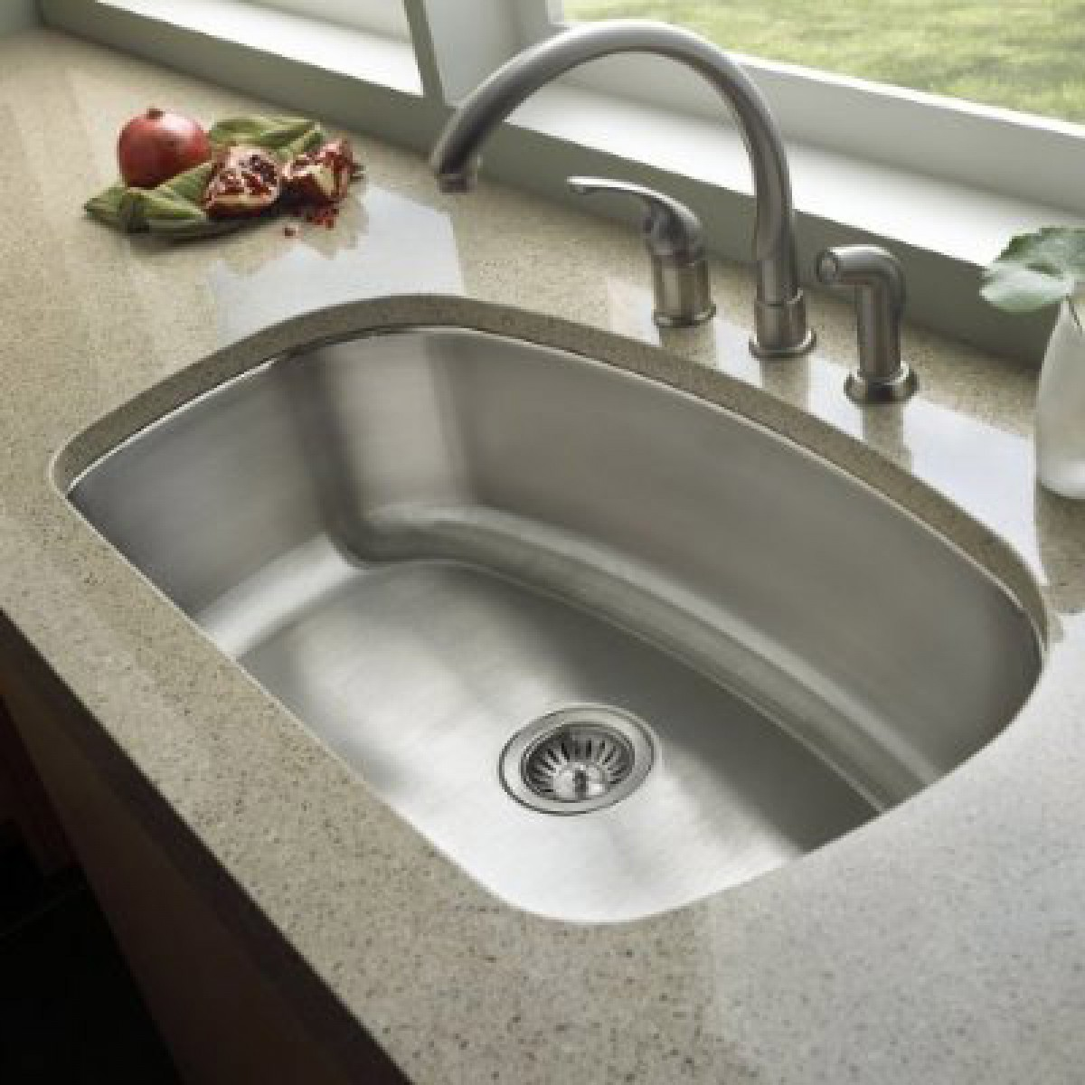 undermount stainless kitchen sinks 32 inch stainless steel undermount curved single bowl 6604