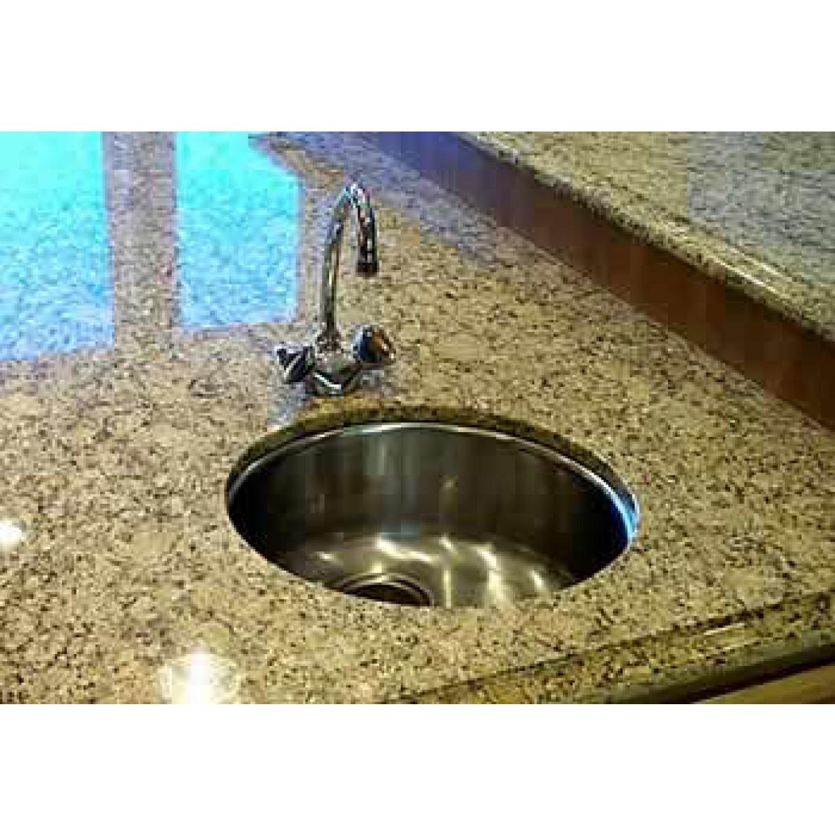 Bella 18 Inch Premium 16 Gauge Stainless Steel Undermount Single Bowl Kitchen Bar Prep Sink Round With Free Accessories