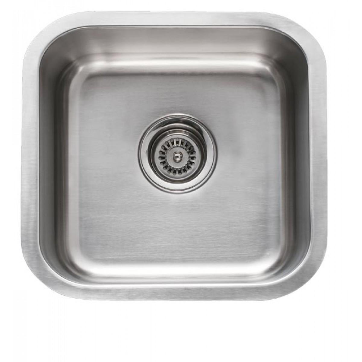 16 Inch Stainless Steel Undermount Single Bowl Kitchen / Bar / Prep Square  Sink   18 Gauge