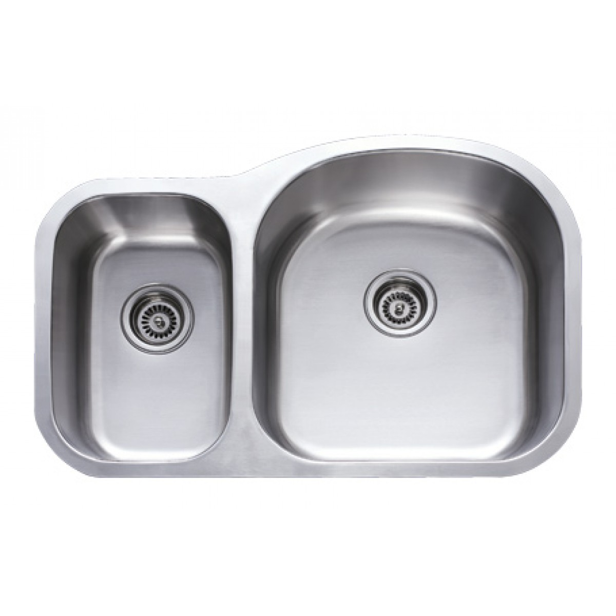 31 Inch Stainless Steel Undermount 30/70 Double Bowl Kitchen Sink   18 Gauge