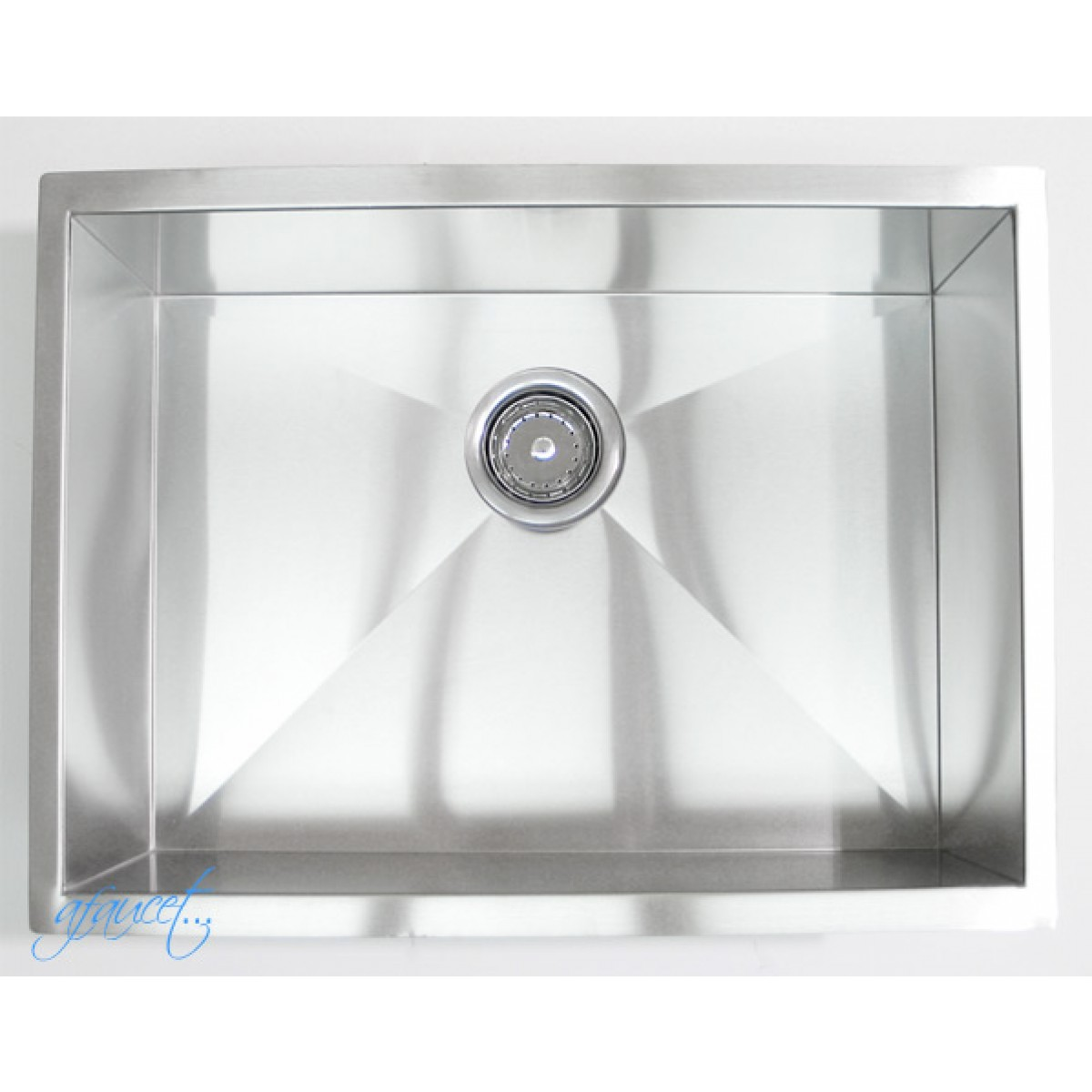 23 Inch Stainless Steel Undermount Single Bowl Kitchen / Bar / Prep Sink  Zero Radius Design