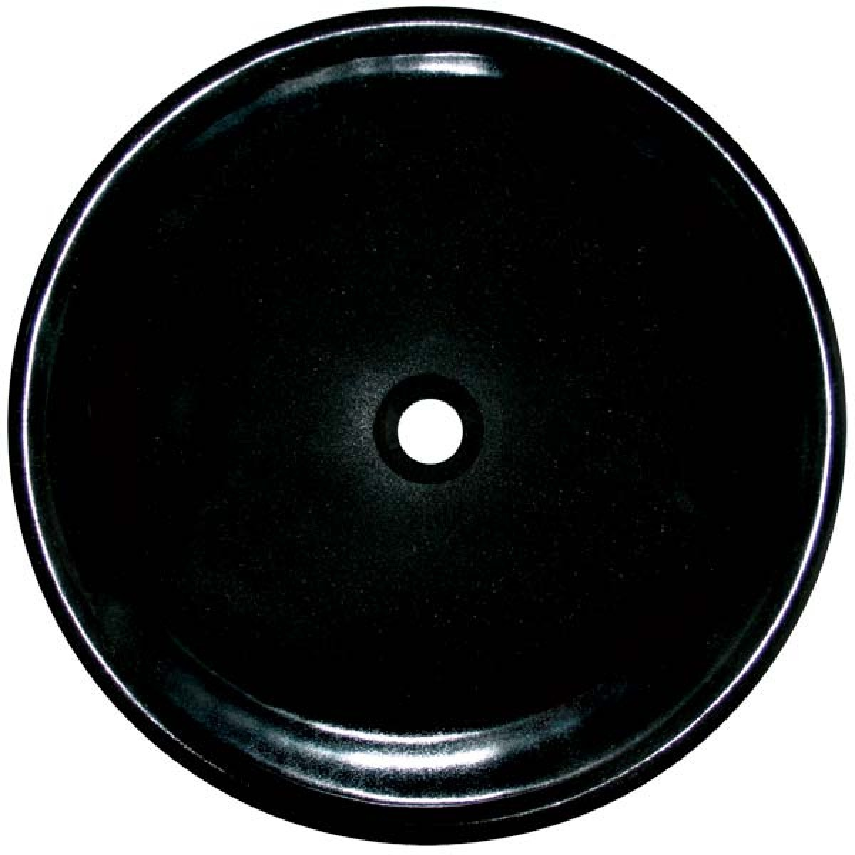Absolute Black Granite Stone Undermount Drop In Countertop - Black drop in bathroom sink