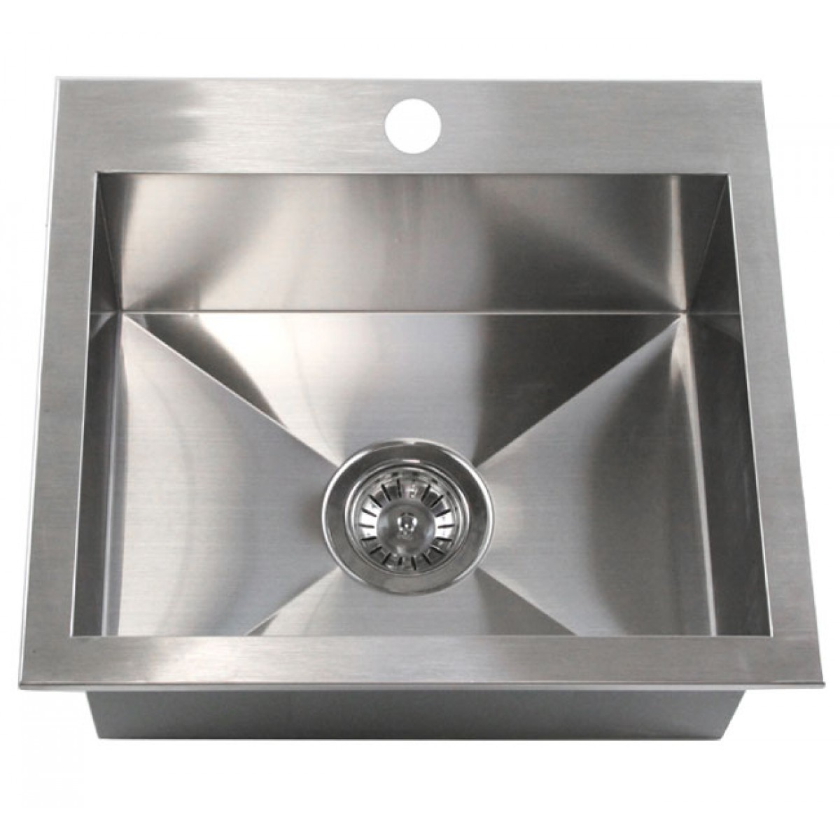 19 Inch Top Mount Drop In Stainless Steel Single Bowl