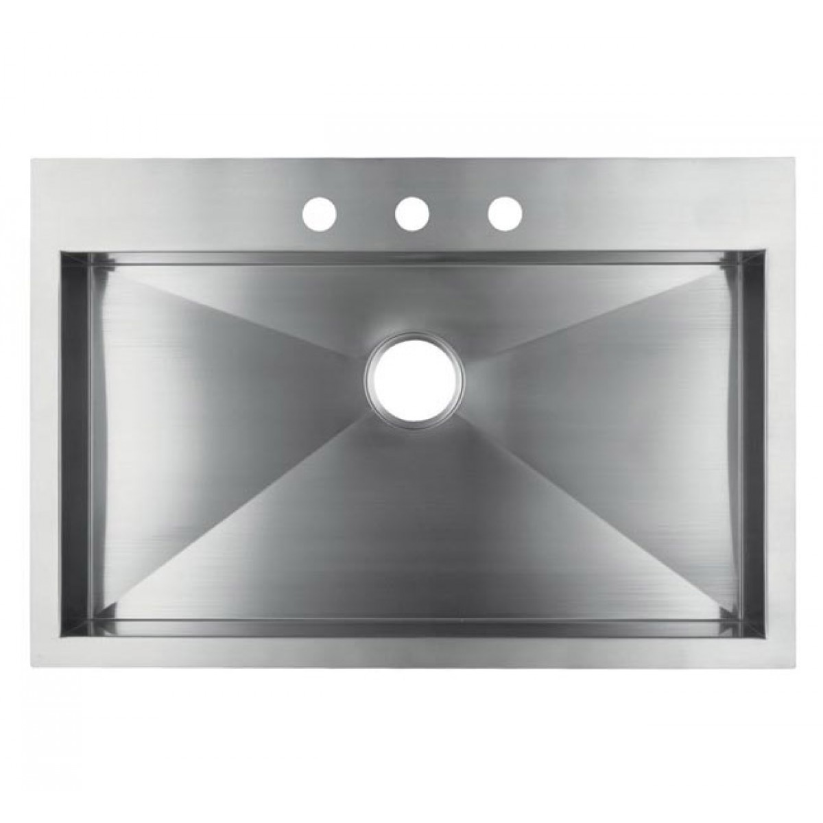36 Inch Top-Mount / Drop-In Stainless Steel Single Super Bowl ...